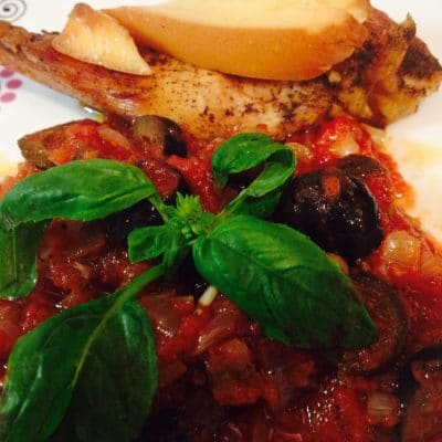 Turkey with tomato sauce and olives appetizer soofoodies