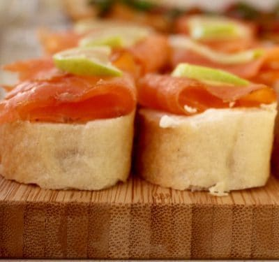 salmon bruschetta foodies soofoodies appetizer