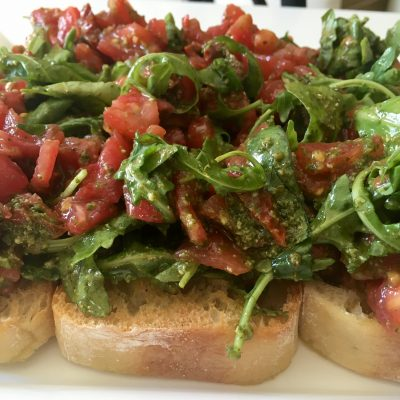 summer bruschetta appetiser soofoodies