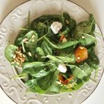 A bunch of colors and a bunch of flavors. Fresh, salty, sweet, crunchy and so easy to make. Simple, yet seems like celebration of senses! Salad with fresh spinach and pumpkin - Soo Tasty with Soo Foodies!