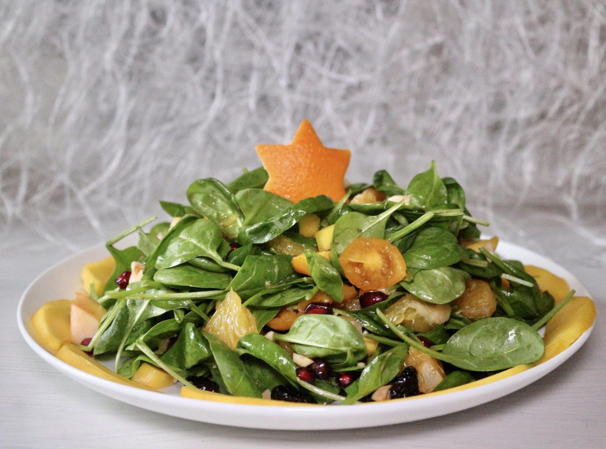 soofoodies exotic christmas tree salad