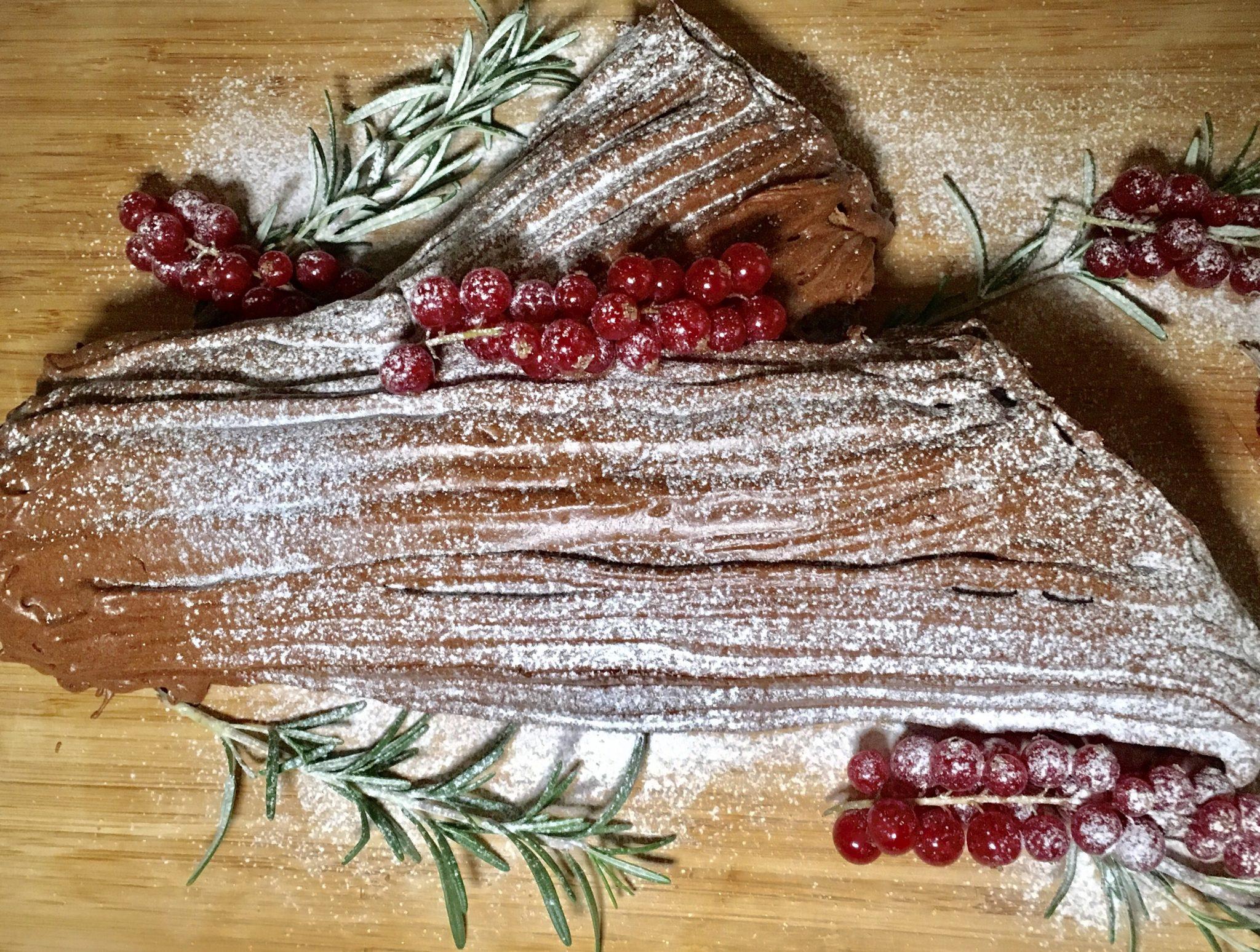 soofoodies chocolate log dessert