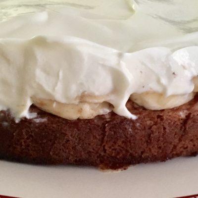 soofoodies tripled layered banana cake dessert