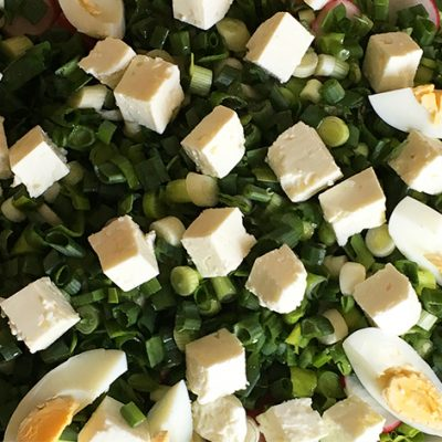 soofoodies green salad with boiled eggs salad