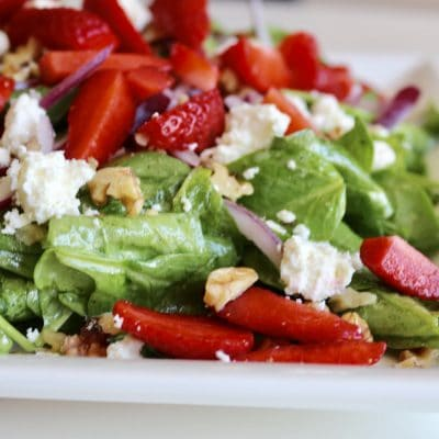 soofoodies crunchy strawberries salad salad