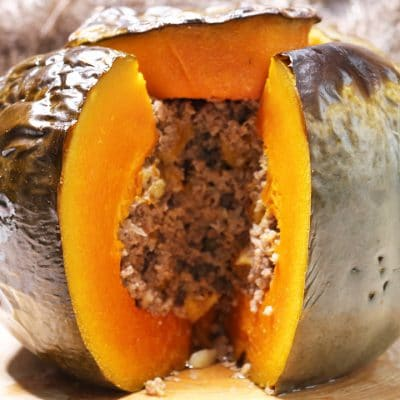 soofoodies stuffed pumpkin with beef main dish