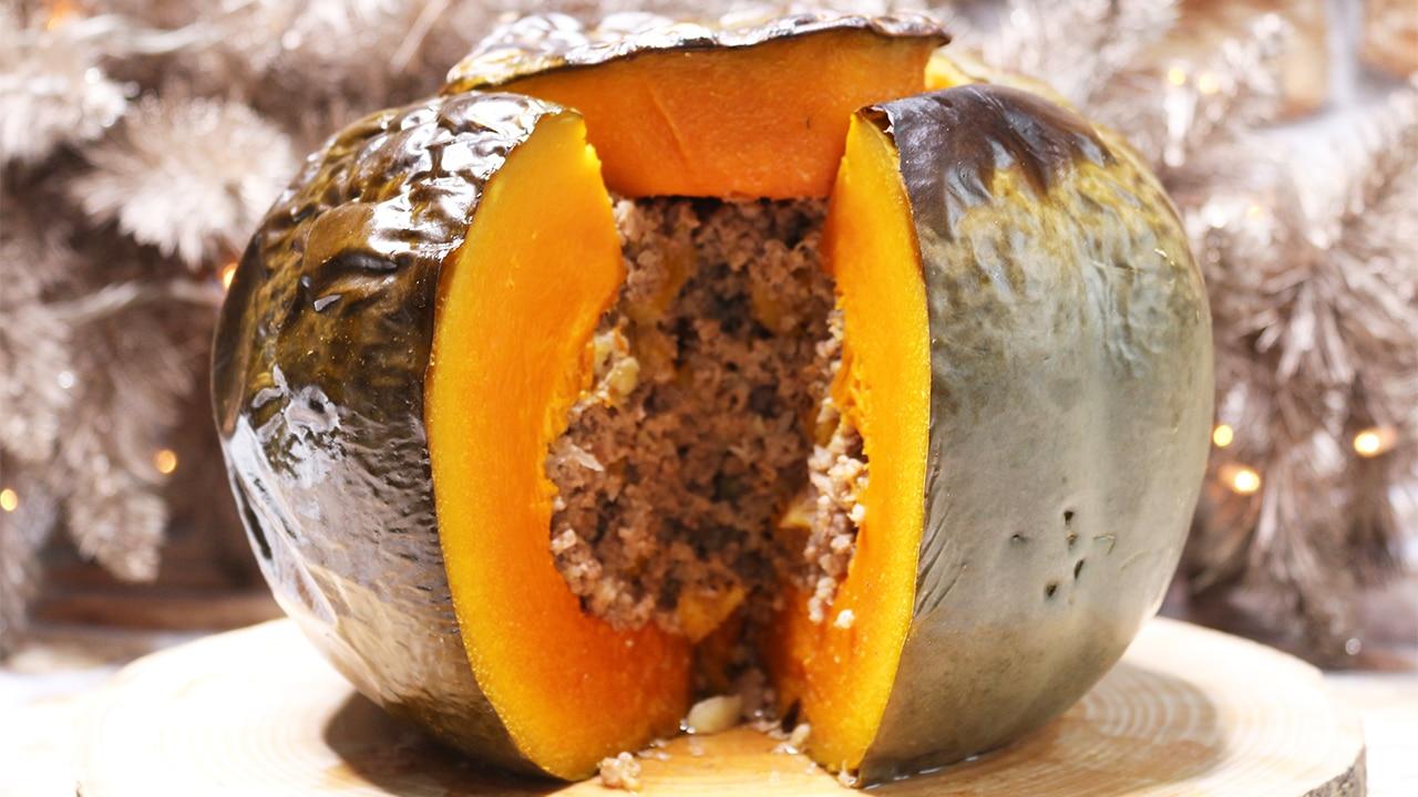 soofoodies stuffed pumpkin with beef main dish